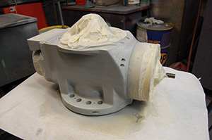 Mazak Integrex with a fresh coat of 2 part epoxy paint.