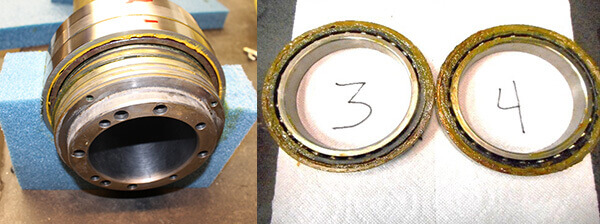 Contaminated bearings-Blombach spindle repair