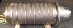 Vigel spindle with damaged stator. Vigel Spindle Repair.