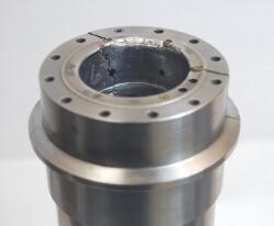 Franz kessler spindle shaft crashed. Vigel Spindle Repair.
