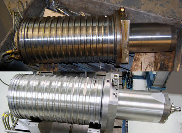 Franz Kessler spindle repair for a Deckel Maho machine.