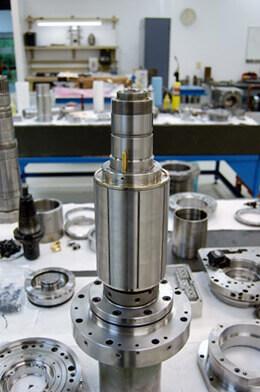 Mazak Integrex spindle repair and rebuild_resetting a hydraulic rotor
