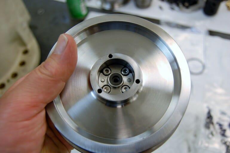Mazak Integrex spindle repair and rebuild_hydraulic actuator being rebuilt