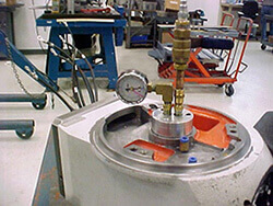 Mazak Integrex Series Spindle Repair pressure testing.