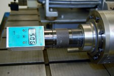 Pull force testing on a Deckel Maho spindle