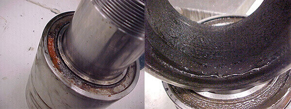 Doosan VC 510 spindle reveals rust, water and contaminated grease inside