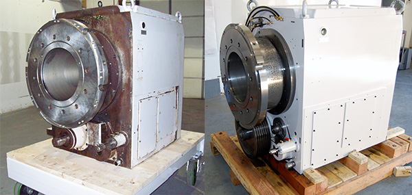 Okuma LOC lathe spindle repair before and after. Turning Centers and Lathes Spindle Repair