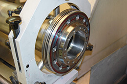 Puma-2600Y-Grinding a shaft to achieve super precise run-out. Turning Centers and Lathes Spindle Repair.