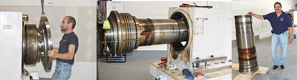 Removing an outer ring from an Okuma LOC lathe spindle.Turning Centers and Lathes Spindle Repair.