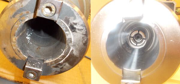 Saccardo-VS14-Spindle-taper-before-and-after-repair
