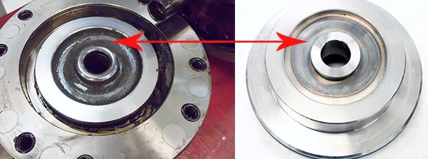 Saccardo spindle drawbar unclamp actuator