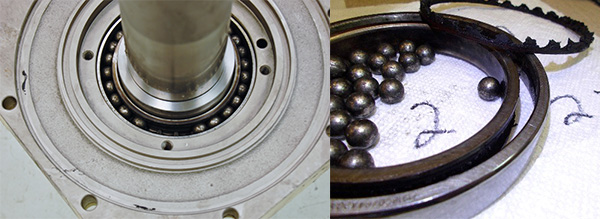 Saccardo spindle destroyed bearings