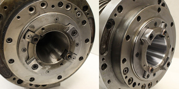 Before and after a taper GPG on a Mori Seki MH-63