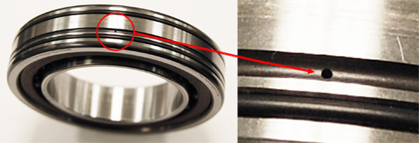 Special Bearing with lube holes