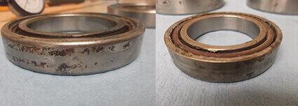 Komo_spindle_repair_bearing _fretting