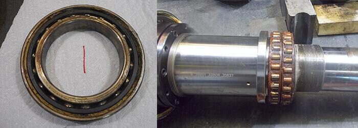Komo_spindle_repair_worn bearings