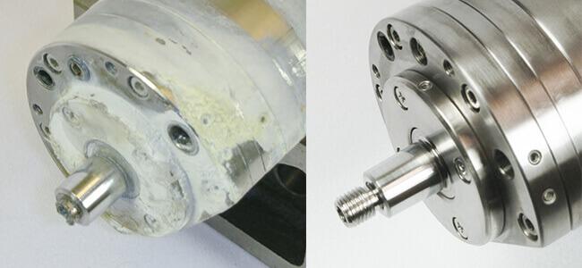 Air Bearing spindle repair and rebuild_broken tip