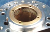 Air Bearing spindle repair and rebuild_radial bearing damaged