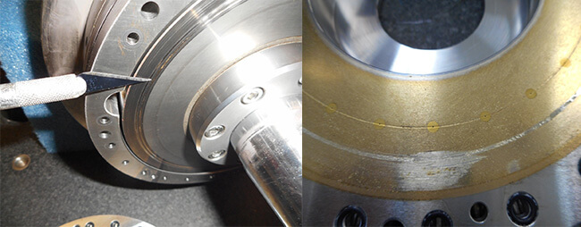 Air Bearing spindle repair and rebuild_Disco Backgrinder_shaft thrust_outer axial