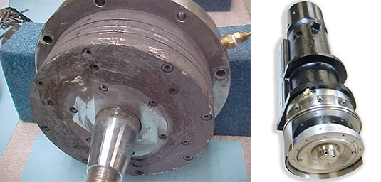 Air Bearing spindle repair and rebuild_Disco DFG-82IF before and after
