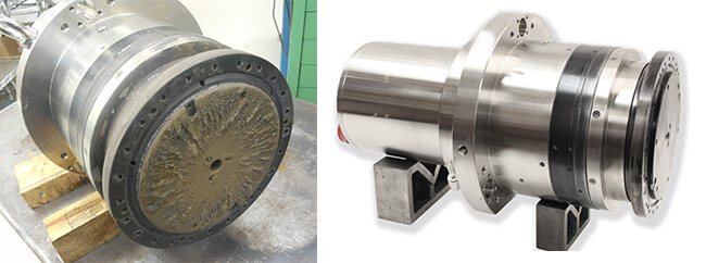 Air Bearing spindle repair and rebuild_Disco NCPZ010019-20_before and after