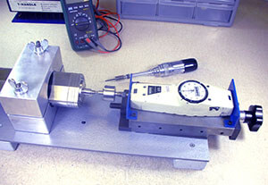 Axial bearing damage_thrust test disco spindle repair and rebuild