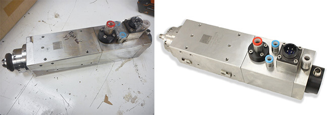 Disco NCP00032 Air bearing spindle repair and rebuild_before and after job IA1722