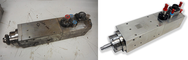 Disco NCP00032 Air bearing spindle repair and rebuild_before and after job IA1723