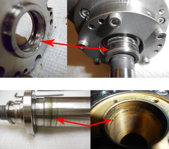 Disco NCP00032 Air bearing spindle repair and rebuild_rotating shaft_radial bearing
