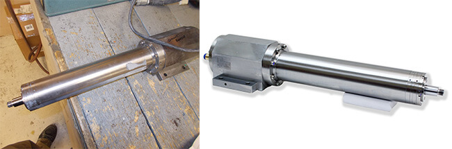 Disco NCP00043 Air bearing spindle repair and rebuild_before and after