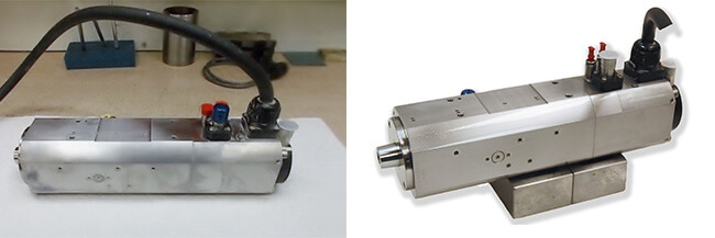 Disco NCPZ01007400 Air bearing spindle repair and rebuild_before and after