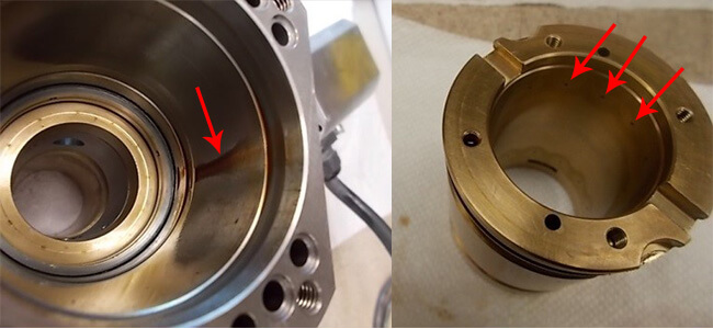 Disco NCPZ01007400 Air bearing spindle repair and rebuild_oil residue_clogged jets