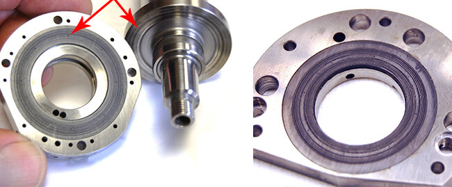 Spindle repair and rebuild_axial bearing contamination