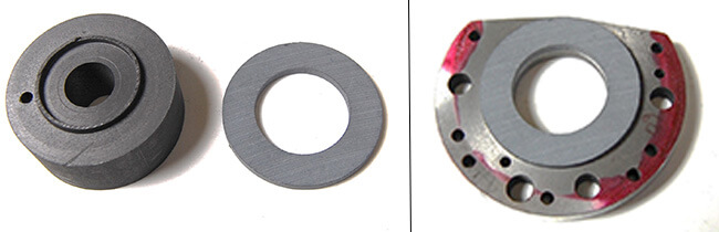 Spindle repair and rebuild_axial bearing material cut and bonded