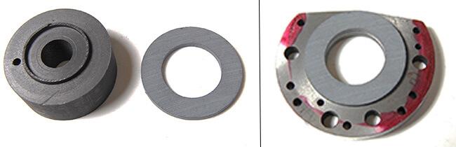 Spindle repair and rebuild_axial bearing material cut and bonded