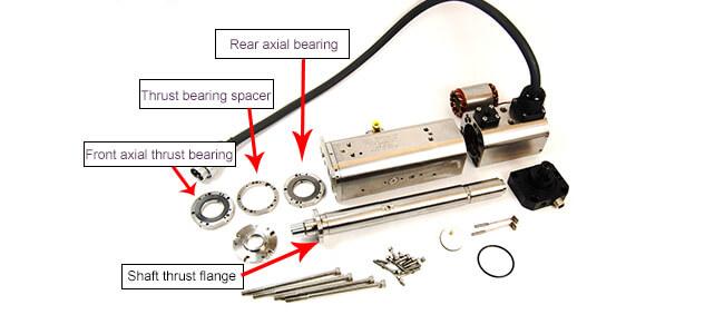 Spindle repair and rebuild_axial bearing parts