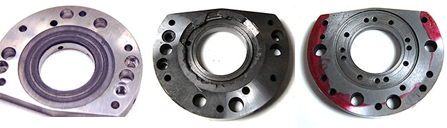 Spindle repair and rebuild_axial bearing_damaged and removed
