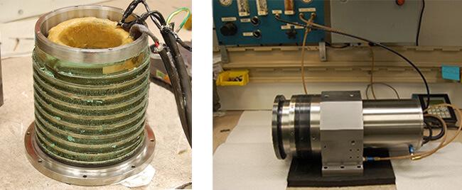 Disco spindle repair and rebuild_contaminated coolant jacket_testing