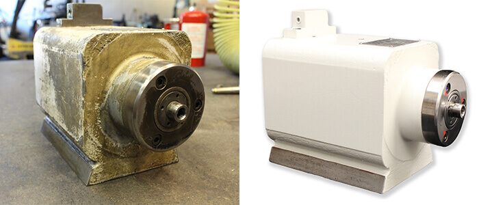 Okamoto spindle repair and rebuild_before and after