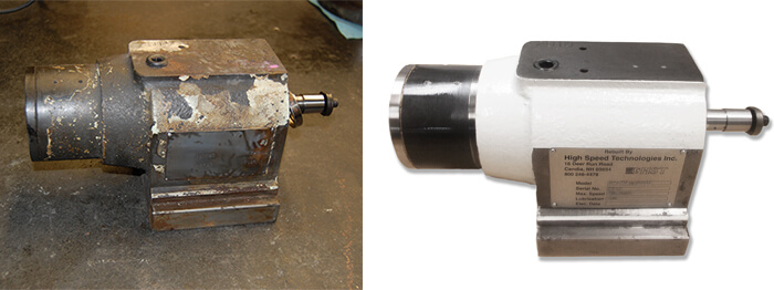Nachi Fujikoshi spindle repair and rebuild_before and after