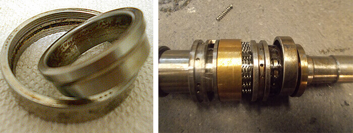 Nachi Fujikoshi spindle repair and rebuild_contaminated_worn bearings