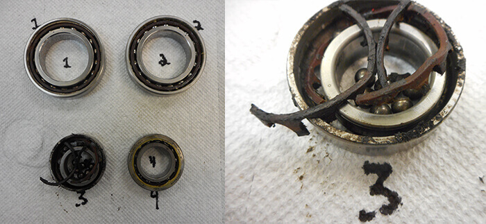 Giordano Colombo Spindle Repair and Rebuild_bearing failure