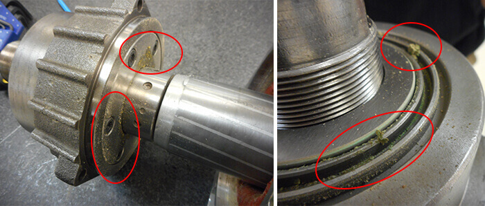 Giordano Colombo Spindle Repair and Rebuild_debris contamination