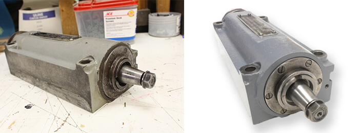 Brown and Sharpe Spindle Repair and Rebuild_before and after