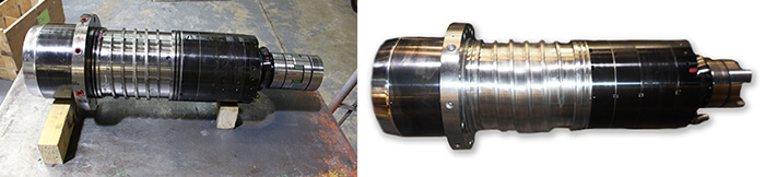Mitsubishi spindle repair and rebuild_before and after