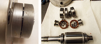 Seiko Seiki Spindle Repair and Rebuild_in stages of disassembly
