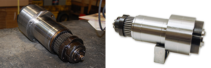 Chevalier Spindle Repair and Rebuild_before and after