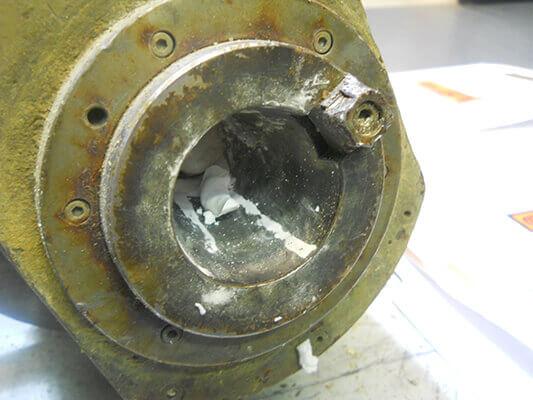 Umbra Spindle Repair and Rebuild_bad shaft