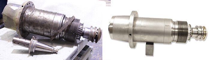 Umbra Spindle Repair and Rebuild_before and after