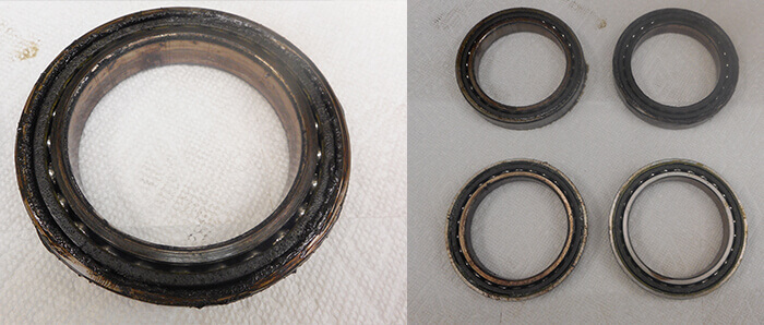 Umbra Spindle Repair and Rebuild_contaminated bearings